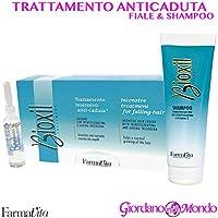 Tratamiento Cabello Champú + 12 ampollas Anticaída bioxil FARMAVITA profesional para peluquería