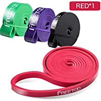 FREETOO Resistance Workout Bands Stretch Exercise Pull up Rubber Bands for Men Women