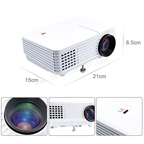 Punnkk P5 800Lmns Portable Mini LED LCD Projector for Home Cinema Theater