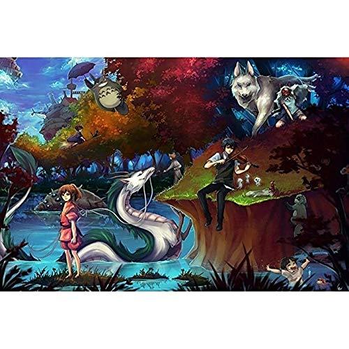 WYF's Puzzle Erwachsene 1000 Stück Mein Nachbar Totoro japanischen Cartoon Anime Puzzle aus Holz pädagogisches Spielzeug Dekor P707 (Color : B, Size : 500pc)