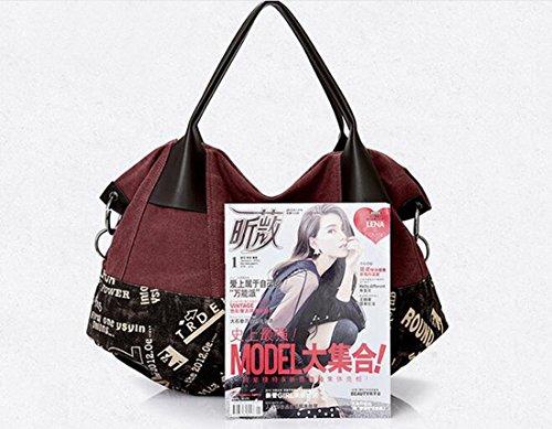 Fansela Große Handtasche Damen Bag Schultertasche Canvas Tasche Shoulder Bag shopper (large size), Modell-E Modell-B