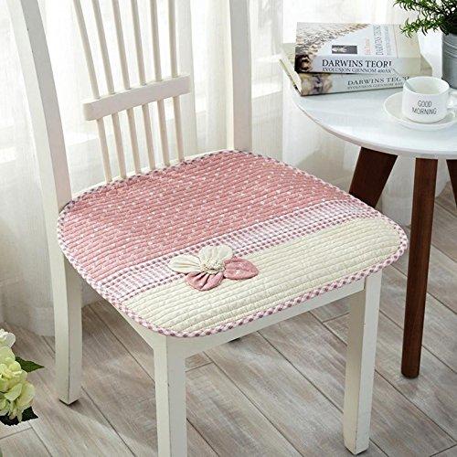 eazyhurry dünn Stuhl Square Pad für Office Home rutschfeste Applikation Blume Stuhl verziert Kissen Unterlagen Saugen Flüssigkeiten mit Bandage, rot, 17.7