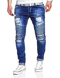MT Styles Biker Jeans Slim Fit pantalon RJ-2068