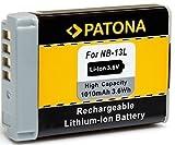 PATONA Li-Ion Hochleistungsakku - Ersatz für Akku Canon NB-13L (echte 1010mAh) neueste Generation