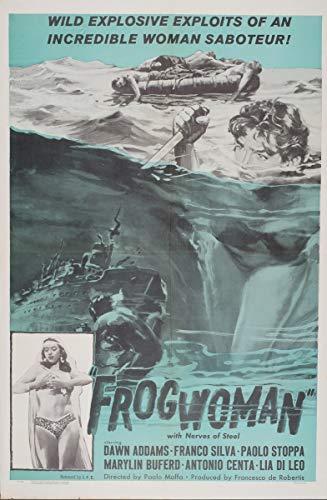 Berkin Arts Filmplakat Giclée-Druck Auf Leinwand-Filmplakat Reproduktion Wanddekor(Froschfrau 2) #XFB
