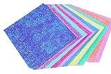 50x Demarkt Pearlescent Origami Papier Faltblätter 10 verschiedene Farben 15*15cm