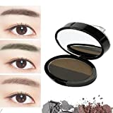 Augenbrauenpuder VENMO Brow Stempel Pulver Delicated Natürlich Perfect Enhancer Straight United Augenbraue (Coffee B)
