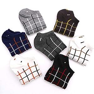 XMDNYE 7 Paar Atmungsaktive Socken Männliche Socken Casual Socken Kurze Socken