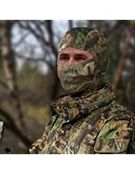 véritable Arbre Camouflage Chêne Feuille chasse Passe-montagne voile Hat capuche Housse pour tête