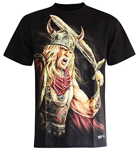 PALLAS Men's Norse Vikings T Shirt -SK012 Black