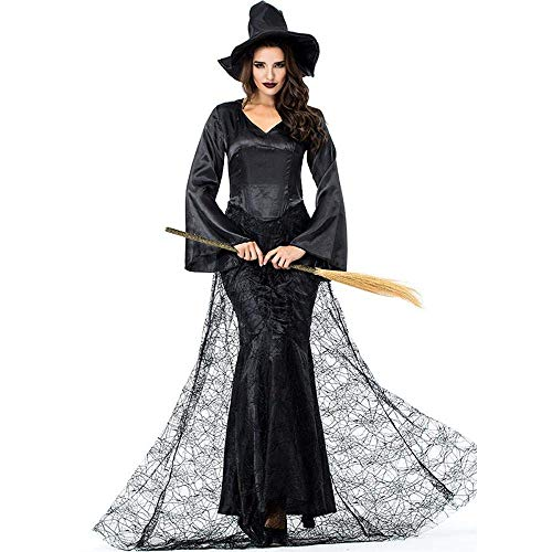 en Sexy Erwachsene Frauen Vampire Kostüme Dame Kostüm Hexe Weibliche Kostüm Zombie Bat Spider Uniformen (Size : M) ()