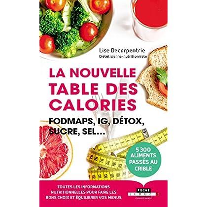 La nouvelle table des calories : FODMAPs, IG,détox, sucre, sel