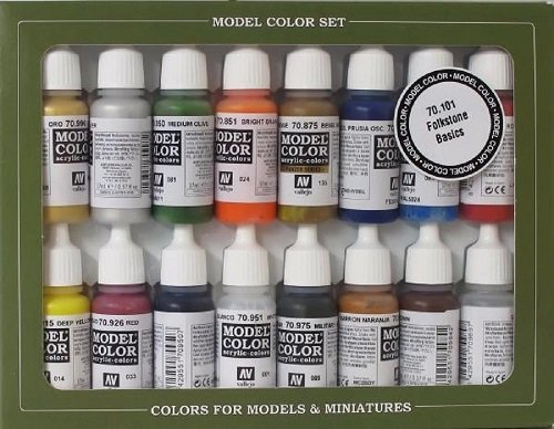 Vallejo 070101 Farbset, Folkstone Basics, 16 x 17 ml -