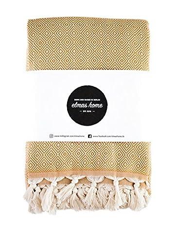 Elmas Home CLASSIC DIAMOND Tagesdecke aus 100% Baumwolle - Couchdecke