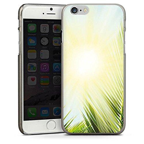 Apple iPhone 5s Housse Étui Protection Coque Palmier Soleil Soleil CasDur anthracite clair