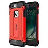 #4: Cubix Tough Armor Slim Rugged Military-Grade Drop Tested Case Defense Shield Shock Resistant Hybrid Heavy Duty Back Cover Case for Apple iPhone 7 Plus (Red)