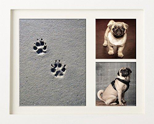 Puppy Paw Print Frame-Set–Easy Clay Zierleiste Impressum Kit–Perfektes Geschenk für den Hundeliebhaber in Ihrem Leben–eine hervorragende Weihnachtsgeschenk–Neues und einzigartiges für 2017