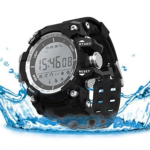 Jiazy Bluetooth 4.0 Smart Watch Wasserdichte Smart Watch (nur Englisch und Chinesisch) (Schwarz)