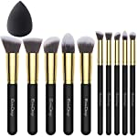 EmaxDesign - My Beautiful Life Per applicare il trucco Perfettamente   Il pacchetto include: Il set include 10 pennelli EmaxDesign (per ombretti, fondotinta, fard, mascara, per l'uso quotidiano) & 1 spugnetta EmaxBeauty (4,2 x 5,8 cm). 1x EmaxDes...