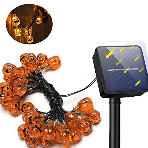 Solar-Kürbis-Lichterketten, LED-Außenleuchten für Patio, Garten, Tor, Hof, Halloween-Weihnachtsdekoration IP65 wasserdicht, 50LED -