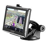LESHP GPS per Auto Multilingue Schermo Capacitivo da 5 Pollici (12,7 cm) Memoria 8GB Mappe incluse di 45 Paesi Europei con Aggiornamenti delle Mappe Gratuiti immagine