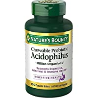 Nature's Bounty, Chewable ACIDOPHILUS with Bifidus MILK FREE - 100 Wafers by Nature's Bounty