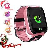 SmartWatch bambini LDB, GPS / LBS Localizzatore di posizione Chiamata vocale SOS Allarme Torcia anti Smarrimento Gioco Matematico Smart Watch per bambini, Ragazzi e ragazze Regali di Natale