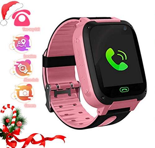 LDB Kinder SmartWatch Phone, LBS Tracker Micro Call SOS Alarmkamera Antiverlorene Taschenlampe Math Game Kinder Smart Watch, Junge Mädchen Weihnachts Geschenk