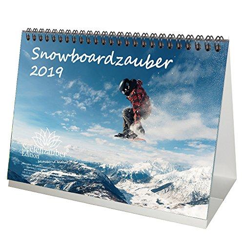 Snowboard magique–DIN A5–Premium Calendrier de bureau/calendrier 2019–Sport–Randonnée–Randonnée–Équipement–Sommet–Montagne–Alpin–besteigung · Snowboard–Coffret cadeau avec 1carte de vœux et 1carte de Noël–Édition âme magique