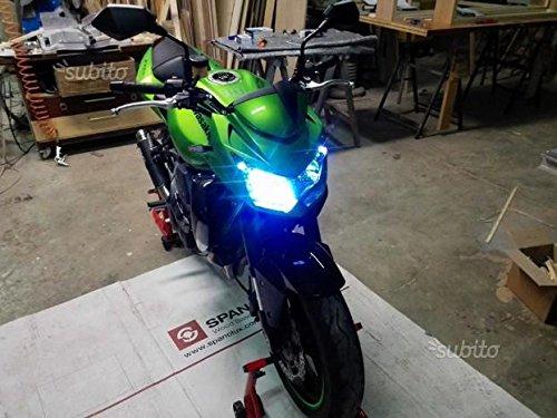 EASYELETTRONICA® KIT LED CREE MOTO LAMPADE H7 PER KAWASAK Z750 PER ANABBAGLIANTE + ABBAGLIANTE TUTTO LED NUOVA TECNOLOGIA