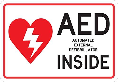 Preisvergleich Produktbild 25,4x 17,8cm AED Innen Magnet Vinyl Business Tür Magnetverschluss Notfall Schild