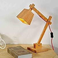 SBWYLT-Retro macchina Nordic personalità creativa cucciolo lampada da comodino camera da letto den leggero legno lampada da