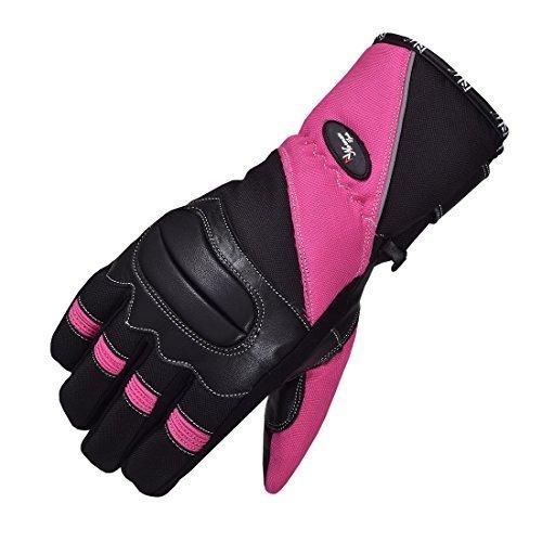 pink Motorradhandschuhe Motorrad wasserdicht, Winddicht Leder/Textil Winter - Rosa/Schwarz, Medium