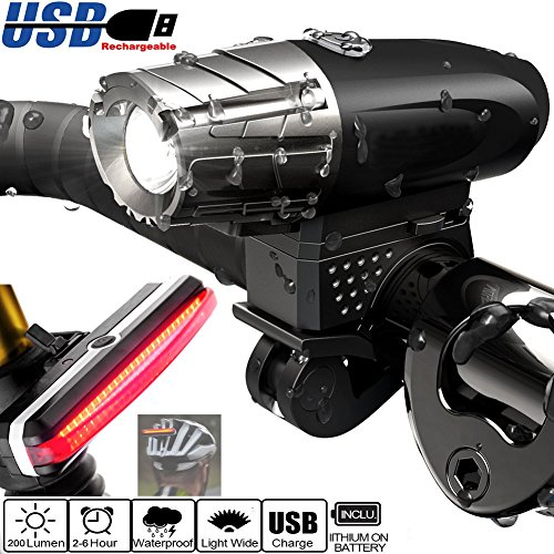 04cb6d42e22 FREEMASTER Super LED Bike Rear Light USB Rechargeable Cycling Bicycle  Lights Waterproof Bike Tail Light