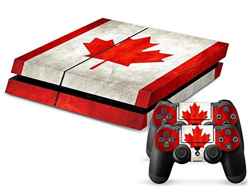 Sony PS4 Playstation 4 Skin Design Foils Aufkleber Schutzfolie Set - Canada Motiv