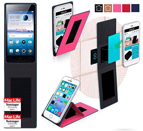 reboon Hülle für Oppo Neo 5s Tasche Cover Case Bumper | Pink | Testsieger