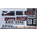 Rail King Light And Intelligent Classical Orbit Train Sound Synchronous With The Train Actions.