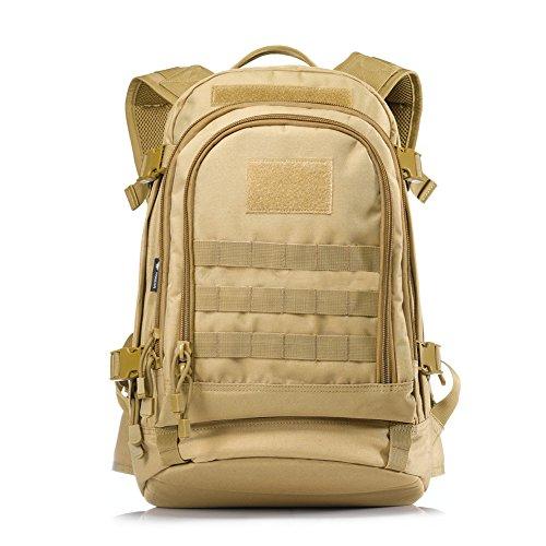 """Yakeda® 600D A88051 - Mochila táctica militar de poliéster, impermeable, - mud color, 20.5"""" x 15"""" x 7.75"""" - 12.75"""""""