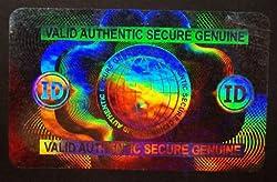 100 Hologram Secure Globe Self Stick ID Overlays, Thin .05 Mil