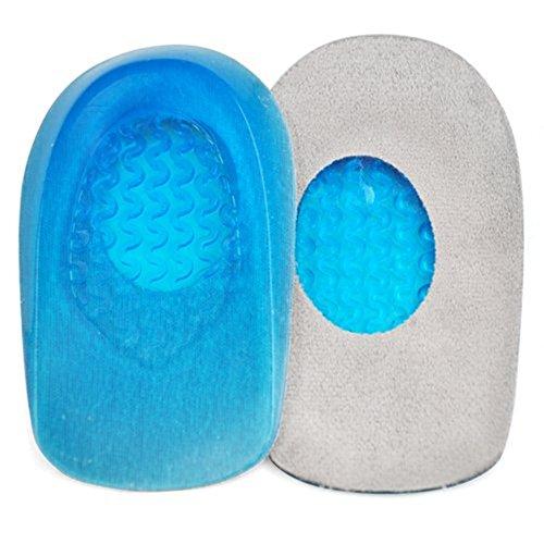 Demarkt ein Paar Gel Silikon Schuhkissen Fersenkissen Schuheinlage Fersenpolster Einlegesohle Fersenschutz (Blue (Male))