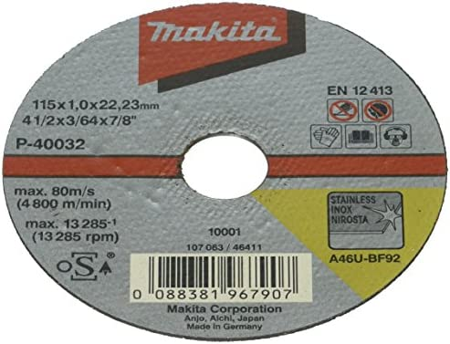 Makita P-40032-10 - Pacchetto di lamiera d'acciaio 10er 115x1mm 115x1mm 115x1mm | Abbiamo ricevuto lodi dai nostri clienti.  | Nuovo 2019  | Prezzo Moderato  3cbd2f