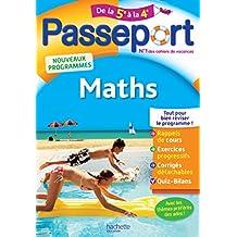 Passeport - Maths de la 5e à la 4e - Cahier de vacances