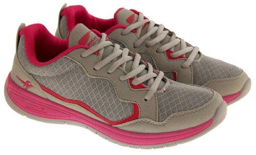 Footwear Studio , Baskets mode pour femme - Grey & Pink