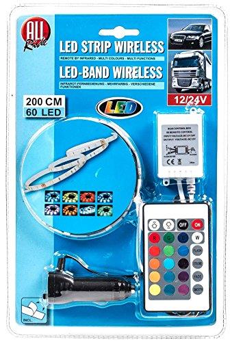Preisvergleich Produktbild LED-Deko-Band, außen mit Infrarot-Fernbedienung, mehrfarbig, multifunktional, 12/24V, 60 LEDs, 200cm