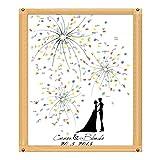 ZREAL Signature Tabelle Malerei Signature Fingerprint Bäume Malerei von Baum zu Fingerabdrücke Signature Gästebuch Personalisierte Hochzeit Gästebuch für Hochzeit Geburtstag