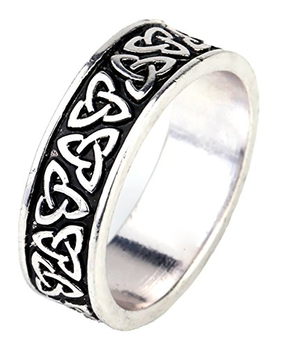 Dawapara- Anneau vintage orné de nœuds celtiques (triquetras), symboles de la mythologie nordique, bijoux de fête pour hommes et femmes