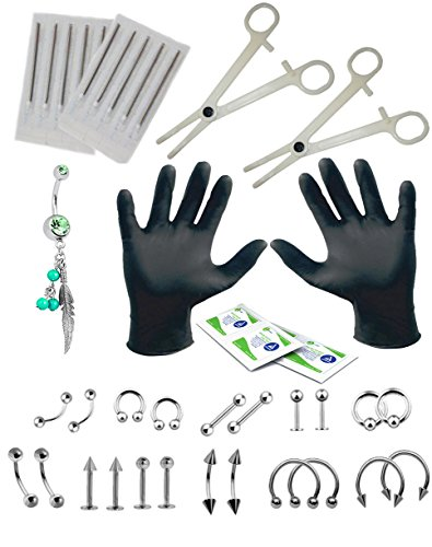 body-piercing-kit-with-belly-rings-tonguetarguseareyebrownipple-barlipnose-