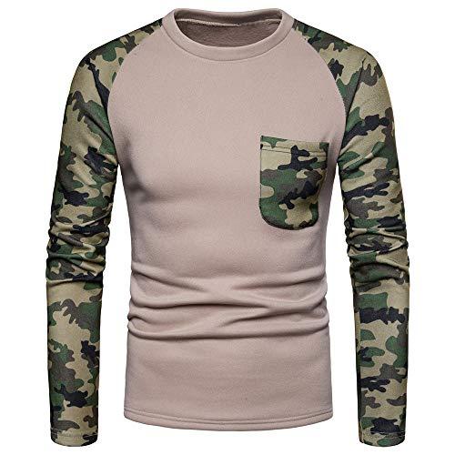 BBestseller Primavera Camuflaje Slim Fit Camisas Hombre