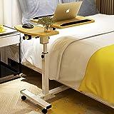 Mesita de noche Moonlove para ordenador portátil con ruedas de altura ajustable y ángulo movible, mesa de noche, mesa de comedor, mesa de comedor con ruedas para el hogar o el hospital