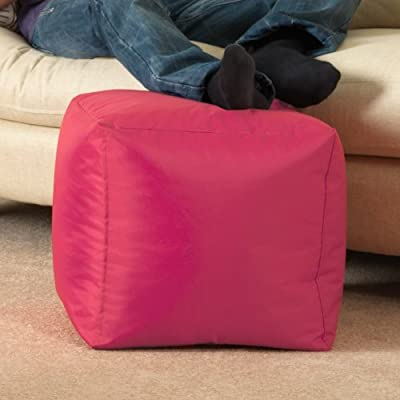 BAR B CUBE Beanbag Stool PINK - Outdoor & Indoor Use - Waterproof Bean Bags